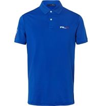 Rlx Ralph Lauren Stretch Jersey Golf Shirt Blue