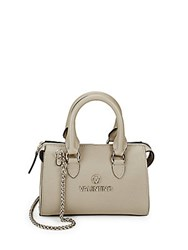Valentino By Mario Valentino Arielle Leather Tote Grey