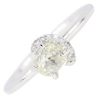 Diamond In The Rough Champagne Bubbles Solitaire Ring Gold
