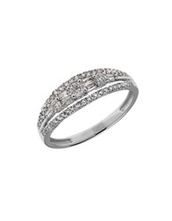 Lord And Taylor Diamond 14K White Gold Variegated Ring 0.5Tcw