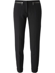 Versace Collection Zip Detail Skinny Trousers Black
