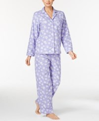 Charter Club Printed Flannel Pajama Set Only At Macy's Lilac Sheep