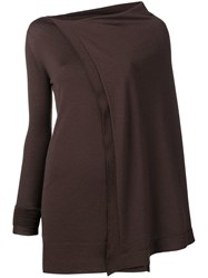 Rick Owens Sisyphus Off The Runway Cape Tunic Brown