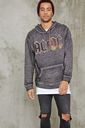 Forever 21 Acdc Graphic Fleece Hoodie Black Red