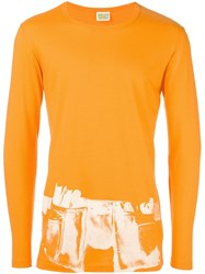 Walter Van Beirendonck Vintage Print Detail Longsleeved T Shirt Yellow And Orange