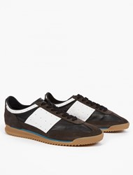 Maison Martin Margiela Brown Leather Running Sneakers