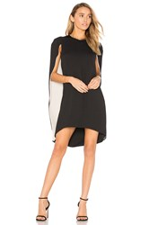 Halston Cape Dress Black