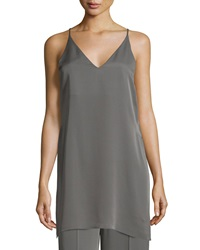 Theory Awenna Sleeveless Long Silk Top Shale