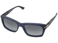 Persol Po3065s Matte Blue Gradient Grey Fashion Sunglasses Black