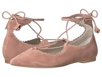 Kennel And Schmenger Tassel Lace Zone Flat Rosette Suede