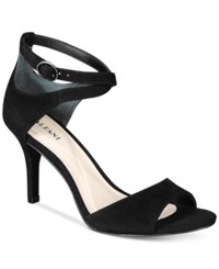 Alfani Women's Ginnii Ankle Strap Dress Sandals Only At Macy's Women's Shoes Black