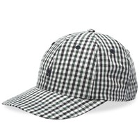 Norse Projects Gingham Sports N Logo Cap Blue