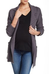 Michael Stars Cable Knit Wrap Cardigan Gray