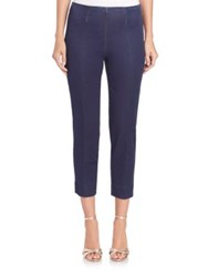 Piazza Sempione Audrey Cropped Denim Pants Dark Blue