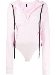 Unravel Project Hoodie Bodysuit Pink