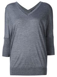 Derek Lam V Neck Jumper Grey