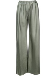 The Row Wide Leg Trousers Green