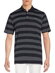 Callaway Striped Polo Shirt Caviar