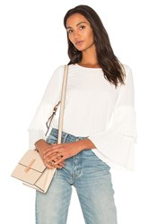 1.State Pleated Sleeve Blouse Ivory
