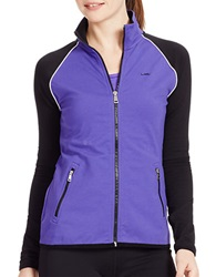 Lauren Ralph Lauren Colorblock Track Jacket Purple