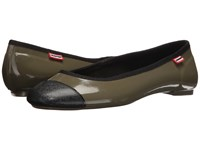 Hunter Original Ballet Flat Olive Women's Flat Shoes
