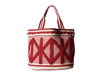 Lucky Brand Robin Tote Poppy Red Natural Tote Handbags Neutral