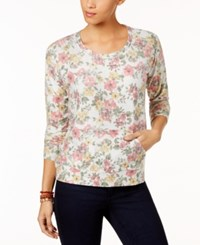 Style And Co Floral Print Sweatshirt Created For Macy's Floral Garden