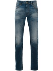Diesel Faded Straight Jeans Men Cotton Spandex Elastane Lyocell 31 Blue