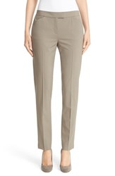 Lafayette 148 New York Women's 'Irving' Stretch Wool Pants Cobblestone