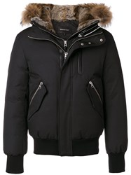 Mackage Hooded Bomber Jacket Black