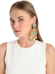 Tommaso Lonardo Filigree And Coins Clip On Earrings