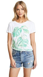 Chrldr Monstera Slub Tee White
