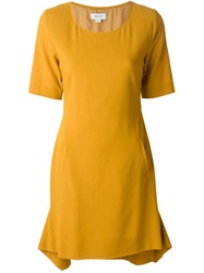 Ready To Fish By Ilja Short Sleeve Dress Yellow And Orange