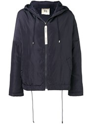 Semicouture Hooded Parka Coat Blue