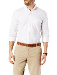 Dockers Stretch Long Sleeve Oxford Shirt Paper White