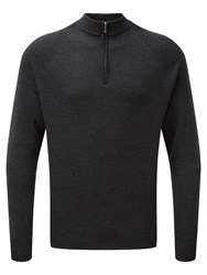 Tog 24 Men's Calder Mens Merino Zip Neck Charcoal