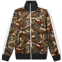 Palm Angels Camo Track Jacket Green
