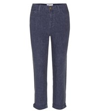 Current Elliott Fling Linen Trousers Blue
