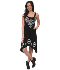 Roper 9600 P R Jersey High Low Tank Dress Black Women's Dress