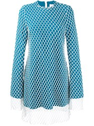 Marques Almeida Marques'almeida Mesh Overlay Dress Blue