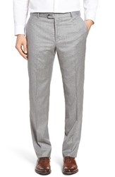 Hickey Freeman Men's Beacon Flat Front Solid Wool Blend Trousers