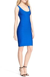 Herve Leger Women's 'Sydney' U Neck Bandage Dress Bright Blue