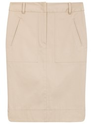 Gerard Darel Jay Cotton Pencil Skirt Beige