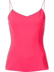 Christian Siriano V Neck Tank Top Pink Purple