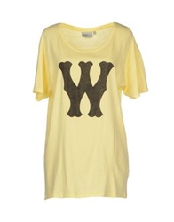 Wesc T Shirts Yellow