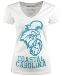 Royce Apparel Inc Women's Short Sleeve Coastal Carolina Chanticleers T Shirt White