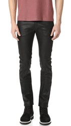 Naked And Famous Waxed Super Skinny Guy Jeans Black