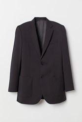 Handm H M Wool Jacket Relaxed Fit Black