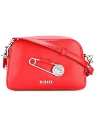 Versus Lion Pin Crossbody Bag Red
