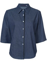 Harvey Faircloth Chambray Shirt Blue